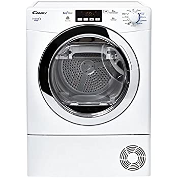 Candy GVH D913A2-S freestanding Front-load 9kg A++ White tumble dryer - Tumble Dryers (Freestanding, Front-load, Heat pump, White, Buttons, Rotary, Left)