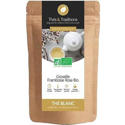 Thés & Traditions - Thé blanc Bio Groseille Framboise Rose | 100g