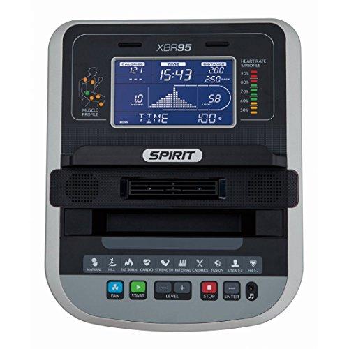 """Spirit Fitness Bike XBR 95 – Heimtrainer, Sitz-Ergometer, 12 Programme, 13,5kg Schwungrad, 7,5"""" LCD - 2"""