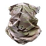 Multicam Camouflage Tactical Neck Gaiter Gesichtsmaske Sun Head Military Army Schal Magic Headband Beanie Wristband Bandana (Color : 102, Size : One Size)