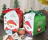 DiiDa Confezione da 12 scatole regalo in carta natalizia [2 colori, 6 pezzi ciascuna] con 12 buste regalo di Natale