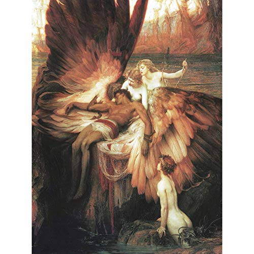 James Mourning for Icarus Myth Greek Wings Painting Large Wall Art Print Canvas Premium Mural griechisch Malerei Wand -