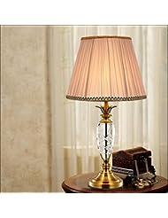 Moderna y simple mesa de cristal dormitorio de la lámpara de cabecera de la lámpara de estar sala de estudio lámpara de mesa decorativo creativo (Sin fuente de luz)