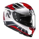 HJC Motorradhelm RPHA 70 Octar MC1, Schwarz/Rot, Größe S