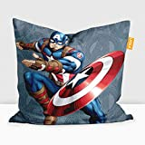 #3: Disney Captain America Digital Printed Cushion Filled with Microbeads - Pack of 1 (14