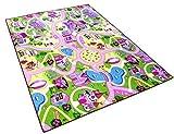 Sweet Girl Town Spielteppich Strassenteppich Kinderspielteppich Mädchen Teppich, 80 x 150 cm