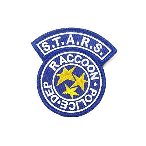 Biohazard Kostüm Tasche - Cobra Tactical Solutions Resident Evil S.T.A.R.S. Racoon Police DEP Patch mit Klettverschluss auf der Rückseite (Blau)