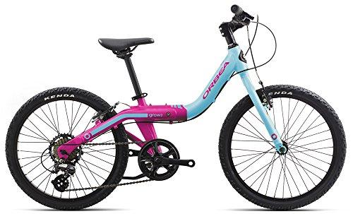 Orbea Grow 2 7V Kinder Fahrrad 20 Zoll 7 Gang Aluminium Mitwachsend Größenverstellbar, I005, Farbe Blau/Rosa