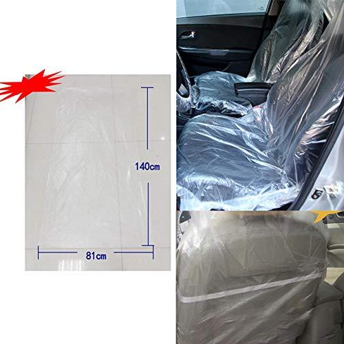 Coprisedile in plastica monouso trasparente per auto da 100 pezzi