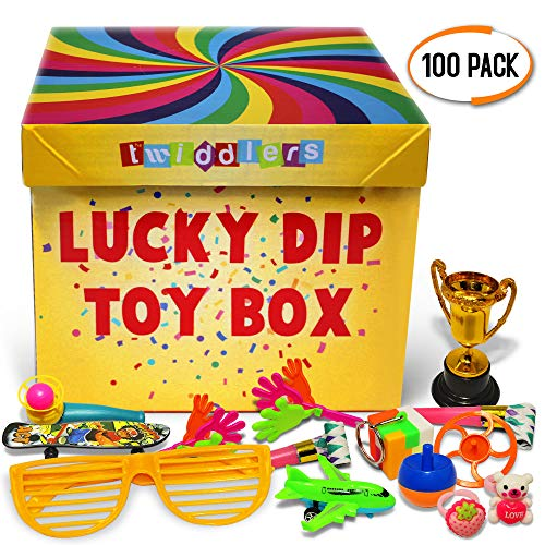 Massives Sortiment von 100 einzigartigen Party Spielzeug - Beinhaltet Box, für Preise Verlosungen Mitgebsel, Belohnungen im Klassenzimmer, kindergeburtstag gastgeschenke, kinder kleine geschenke