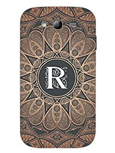 Initial R - Classy And Personalised - Designer Printed Hard Back Shell Case Cover for Samsung Grand Duos Superior Matte Finish Samsung Grand Duos Cover Case