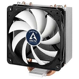Arctic Freezer 33 – Dissipatore di processore semi-passivo con ventola da PWM 120 mm per Intel 115X/2011-3 e AMD AM4, Dissipatore per CPU fino una potenza di raffreddamento di 320 Watt – Nero/Grigio