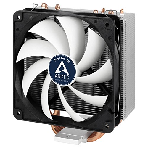 Arctic Freezer 33 Plus, Dissipatore di Processore Semi-Passivo, Ventola PWM 120 mm, Nero/Grigio
