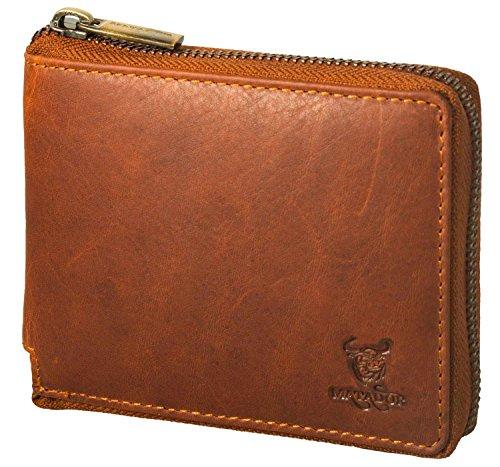 MATADOR Geldbörse Geldbeutel Portmonee RFID Schutz Antik Braun