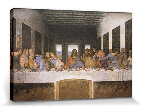 1art1 88370 Leonardo Da Vinci – Das Letzte Abendmahl, 1494–1499 Poster Leinwandbild Auf Keilrahmen 120 x 80 cm
