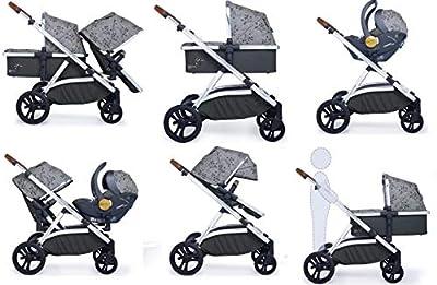 Cosatto Wow XL Tandem - Silla de paseo con funda para asiento de coche y saco para pies