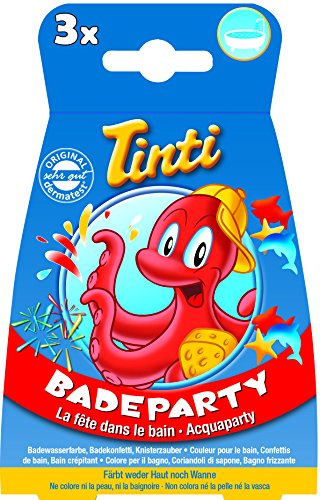 Tinti Badeparty 3er Pack (1x Badewasserfarbe, 1x Knisterzauber, 1x Badekonfetti)