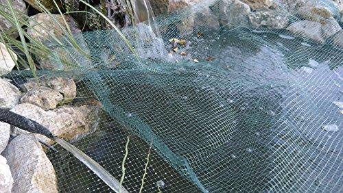 Rete di copertura per laghetto, 6x 4,2m protezione rete per laghetto stagno Airone foglie per rete di copertura - Protezione Stagno Rete