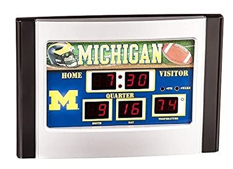 Michigan Wolverines Scoreboard Desk Clock by Team Sports America
