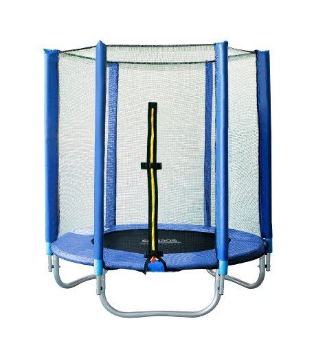 SixBros. SixJump 1,40 M Gartentrampolin Blau Trampolin mit Sicherheitsnetz T140/1535