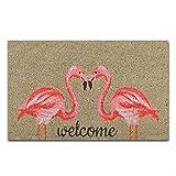 Shinewe Custom Fußmatte Eingang Fußmatte Flamingos Innen/Außen Fußmatte Wohnzimmer Küche Teppiche Home Decor 45x 75cm