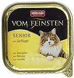 Animonda Feinsten Katzenfutter Senior mit Geflügel, 32er Pack (32 x 100 g)