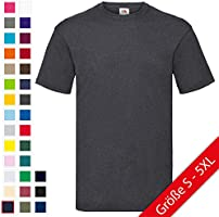 Valueweight T-Shirt von Fruit of the Loom S M L XL XXL XXXL verschiedene Farben