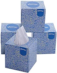 KLEENEX® Facial Tissue Cube 60040-2 ply Face Tissue - 4 Tissue Boxes x 50 Facial Tissues - Sheet Size 21 x 21