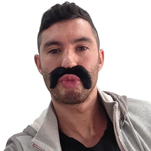 5x Negro Stick On Fake Tash manillar bigote mexicano/118/YMCA disfraz para fiesta