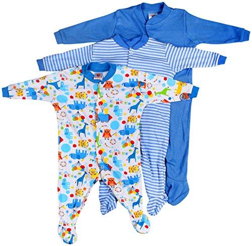 Baby-Grow-Long-Sleeve-Cotton-Bodysuit-Sleep-Suit-Romper-Set-of-3