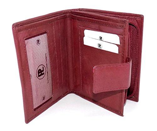 Premium Leather, Borsa a tracolla donna M - L (Bordeaux)