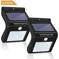 Foco Solar 16 LED Impermeable Lemebo, Luz Solar al Aire Libre, Luz de Sensor de Movimiento Inalámbrico de Seguridad para Jartín Casa Camino Escaleras Pared, IIluminación de Exterior y Seguridad (Negro)