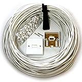 Cablefinder 25m BT Telefon Master Socket/Box Line-Verlängerungskabel-Kit–10m 15m 20m Leine
