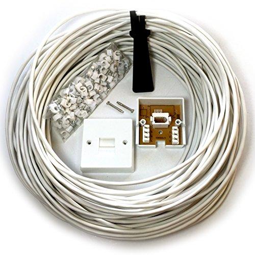 Cablefinder 50m BT Telefon Master Socket/Box Line-Verlängerungskabel-Kit-25m 30m 40m-Slave/Sekundär-Verlängerung -
