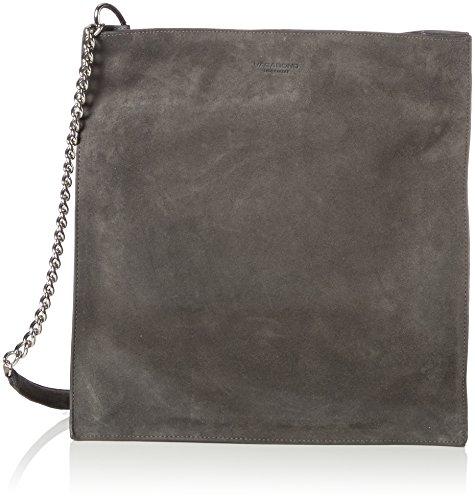 Vagabond Damen Versaille Schultertasche, Grau (Dark Grey), 10x33.5x32 cm -