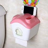 SSBY-Tubo di splendido completo impermeabile carta assorbente, vassoio carta igienica cellulare porta bagno WC , romantic pink