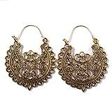 Toporchid Ohrringe Damen Vintage Hohl Geometrie Ohrringe Bohemian Vintage Ohrringe Hängend Antik Style Ornament (Gold)
