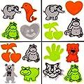 alles-meine.de GmbH XL Set - Selbstklebende Sticker - Reflektor & Signal - Aufkleber - wasserfest - Tiere & Motive - für Textilien - gelb weiß orange bunt - reflektierende / Refl..