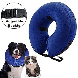 cirugía mascota: Collarín hinchable para perros y gatos, cono protector para mascotas, para su re...