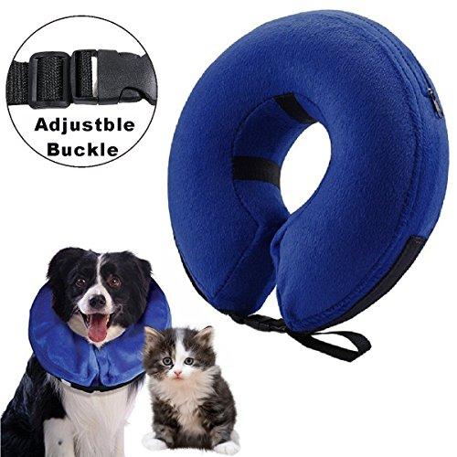 Aufblasbare Halskrause für Hunde und Katzen, um zu verhindern, dass nach einer Operation die Haustiere die Nähte berühren, Größe: S
