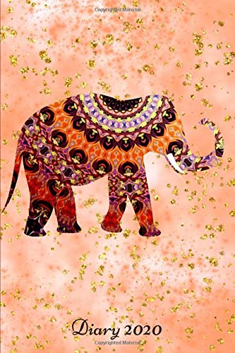 Diary 2020: Monthly Week to View Planner Lucky Indian Elephant