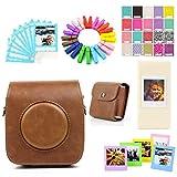 Jxe accessoire Lots Lot–Marron Camera Case Sac de rangement/Films/cadres/Ablum/Stickers/dentelle Bordure Photo/pinces en bois pour Fujifilm Instax carré Sq10Camera