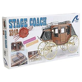 Holzmodell von Far West Sorgfalt Stage Coach 1848