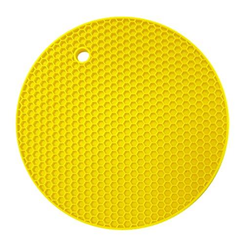 MORESAVE Non-slip Silicone Heat Resistant Trivet Pot Pan Holder Mat Kitchen Placemat Pad Test