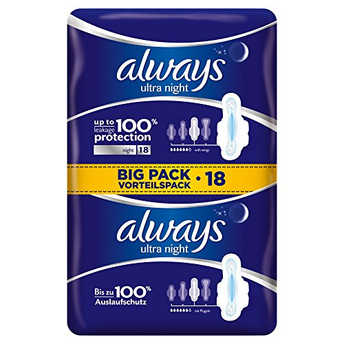 always-ultra-night-binden-mit-fluegeln-vorteilspack-4er-pack-4-x-18-stueck
