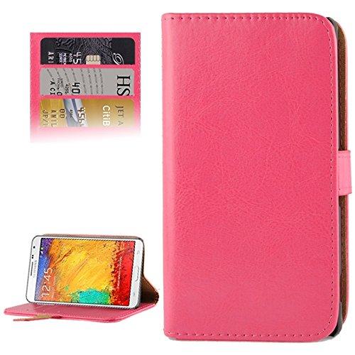 JiuRui Custodie e Cover per Samsung Galaxy Note 3 Neo / N7505 Custodia con Fibbia Magnetica Orizzontale in Pelle (Colore : Magenta)