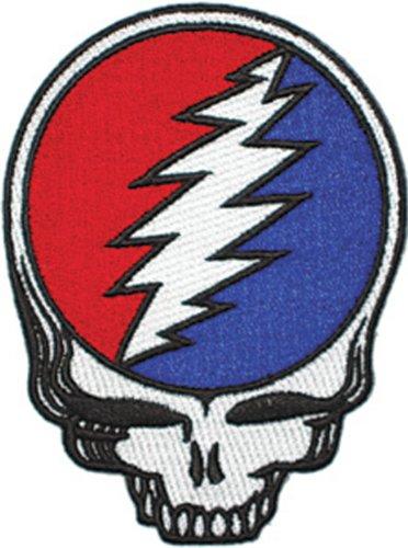 Grateful Dead-hemd (GRATEFUL DANKBAR DEAD Steal Your Face Die Cut Patch Fleck - Officially Licensed Classic Rock GDP Artwork, 5