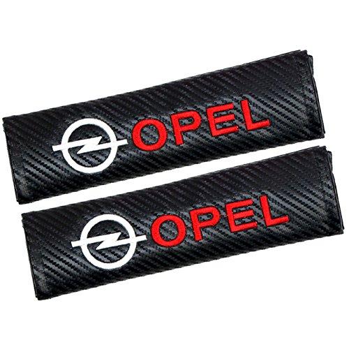Fireman's Pair New Carbon Fiber Seat Belt Cover Shoulder Pad Cushion For Vectra Antara Intra Corsa Grandland X Mokka Adam Karl Black -