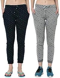 VIMAL JONNEY Women's Regular Fit Trackpants (Pack of 2)