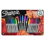 Sharpie Permanentmarker, mit feiner Spitze, limitierte Auflage, verschiedene Farben (21 Stück)